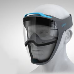 Tech Discover espire respirator reveals facial emotion while improving airflow Wearable Technology, Technology Gadgets, Futuristic Technology, Helmet Design, Mask Design, Respirator Mask, Cool Masks, Full Face Mask, Armor Concept