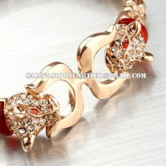 #jewelry #fashion #cartier  Cartier Panther Motif Bracelet in Gold Plated with Diamond Jewelry