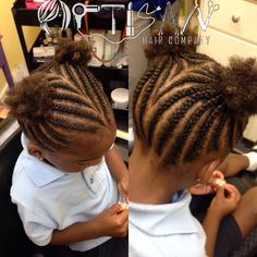Kid hairstyle cornrows