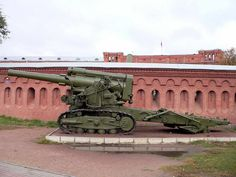 The 203 mm howitzer was a 8 inch Soviet heavy howitzer - English Ww2 Weapons, Military Weapons, Self Propelled Artillery, Tank Destroyer, Big Guns, Artwork Pictures, Red Army, Military Equipment, Armored Vehicles