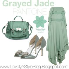 GRAYED JADE: Well, the outfits are IN! We love the new colors PANTONE has released for Spring 2013, so we put together a few monochromatic looks surrounding the hues. Enjoy!