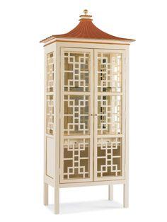 The Pagoda Bar Cabinet by Oscar de La Renta for Century Furniture.Pagoda Bar Cabinet