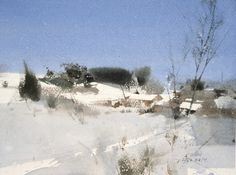 【冬之歌 / A Song of Winter 】27 x 36 cm .watercolor Demo by 簡忠威 (Chien Chung-Wei)