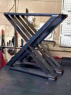 Design Dining Table X-Z Style Legs Sturdy от MetalAndWoodDesign