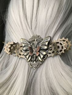 Butterfly Wedding Hair Accessories or Thick by ArcanumByAerrowae