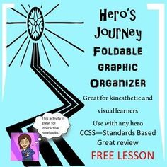 Free Lesson The Hero's Journey Foldable Graphic Organizer