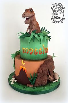 T Rex Dinosaur Cake . T Rex Dinosaur Cake . Dinasour Birthday Cake, Dinasour Cake, Birthday Cake Kids Boys, 4th Birthday Cakes, Dinosaur Birthday Party, Birthday Ideas, T Rex Cake, Dino Cake, Birthday Cake Decorating