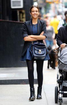 Jessica Alba w Nowym Jorku, 01.10.2014,fot. East News