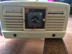 New addition to my collection needs some work but a nice retro style  1950 Westinghouse rise master with working clock !