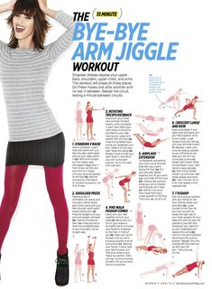 The 15 minute Bye-Bye Arm Jiggle Workout. These 27 Workout Diagrams Are All You Need To Get In Shape This Summer Arm Jiggle Workout, 7 Workout, 15 Minute Workout, Workout Plans, Arm Toning, Jiggle Jiggle, Workout Women, Workout Schedule, Workout Routines