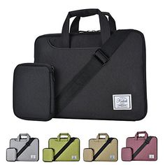 KALIDI 1214 Inch WaterResistant Padded Laptop Sleeve Shoulder Bag for MacBook AirPro Surface Pro 3Pro 4 Black * Read more reviews of the product by visiting the link on the image.