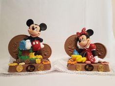Bollo de Huchas personajes. Figuras chocolate en Gijón. Figuras Chocolate, San Antonio, Mickey Mouse, Disney Characters, Fictional Characters, Godchild, Buns, Fantasy Characters, Baby Mouse