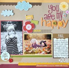 DT Introduces Jennifer Chapin. Layout features tons of Bella Blvd products including chip letters, Stick Pin Flags, buttons and the Thankful Collection.