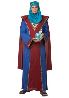 Take care of that frankincense when you're on your way to Bethlehem in this Adult Three Wise Men Balthasar of Arabia Costume!