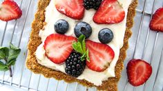 A deliciously light dessert inspired by the flavours of southern Italy Berry Tart, Light Desserts, Southern Italy, Berries, Lemon, Yummy Food, Inspired, Sweet, Recipes