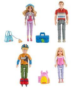 Fisher Price Loving Family Dollhouse Kid Dolls Red Skateboard w// helmet