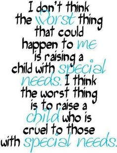 What a wonderful poster #parenting #positiveparenting #specialneeds