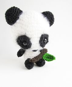Amigurumi Miku the Panda Free Crochet Pattern through TheYarnBox.com
