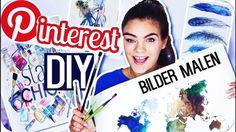 4 PINTEREST DIY's - BILDER MALEN! ◇ Room Deco Inspiration. I'mJette