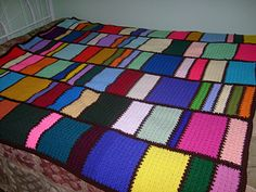 Meemaw's Scrap Crochet Blanket. pretty stitch pattern and a neat way to use up a lot of scraps!