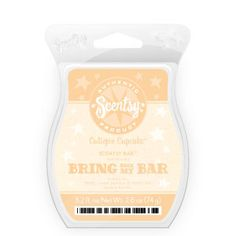Bring Back My Bar - Cutiepie Cupcake - clementine, yellow cake batter and vanilla and sugar icing.  Smells amazing!  laurenf.scentsy.us