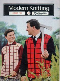 Modern Knitting October 1965 - Vintage Machine Knitting Magazine with Patterns