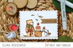 Simon Says Stamp STAMPtember Exclusive: Hello Pumpkin! - Neat and Tangled Fiance Birthday, Neat And Tangled, Thanksgiving Cards, Animal Cards, Fall Cards, Simon Says Stamp, I Card, Stamp Card, Kids Cards