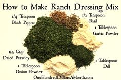 Ranch Dressing and Dip Recipe