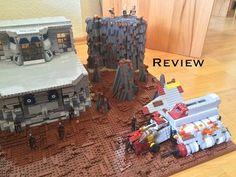 "Lego Star Wars Moc ""Attack Shuttle Crash on Geonosis Star Wars Clone Wars, Lego Star Wars, Lego Lego, Legos, Custom Lego, Starwars, Base, Toys, Youtube"