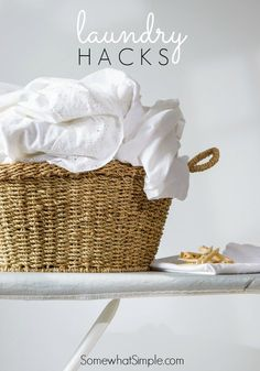 10 easy laundry hacks courtesy of Somewhat Simple