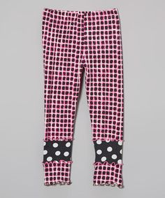 This Pink & Charcoal Cuff Leggings - Toddler & Girls is perfect! #zulilyfinds