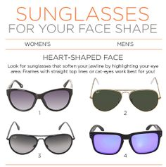 We're taking the guesswork out of finding the perfect pair of sunglasses for spring! Whether you're a classic oval, or a striking square, use our style guide to discover which frames work best for your face shape!