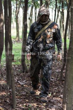 ea2bdd10e30 trailer camping Sniper Tactical woodland Ghillie Suit Camouflage hunting  clothes jacket Pants cap facemask 4PCS for hiking camping fishing    AliExpress ...