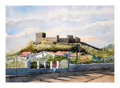 Montemor-o-Velho Portugal, Watercolour, Paintings, Art, Water Colors, Pen And Wash, Art Background, Watercolor Painting, Paint
