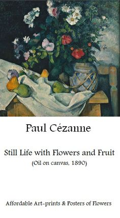 Paul Cezanne, Still life with flowers | Beautiful Flower Art-prints at affordable prices