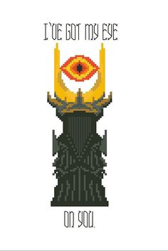 PATTERN: Lord Of The Rings Eye Of Sauron - Cross Stitch PDF Instant Download - Mordor - Funny - I've Got My Eye On You