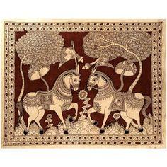 Royal Horses - Kalamkari Painting