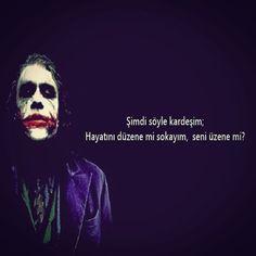 Resimli Kapak Sözler Joker Pics, Dark Quotes, My Philosophy, Joker And Harley Quinn, Funny Comics, Cool Words, Writer, Mood, Humor