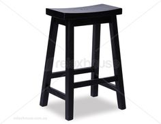 Manga Stool in Black Stained Solid American Ash