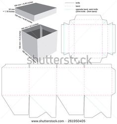 Box with cover Blueprint Layout
