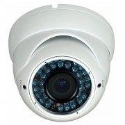 IR Zoom Dome kamera, 700 TVL, Hvid