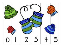 Winter fun counting number puzzles - counting by and Counting Puzzles, Number Puzzles, Maths Puzzles, Preschool Math, Kindergarten Activities, Winter Kids, Winter Activities, Winter Theme, Math Games