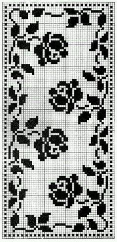 Crochet Tablecloth Pattern, Free Crochet Doily Patterns, Baby Boy Knitting Patterns, Filet Crochet Charts, Crochet Diagram, Crochet Doilies, Cross Stitch Rose, Cross Stitch Flowers, Cross Stitch Charts