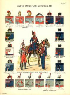 Viv La France - uniformes du cavalerie en Second Empire Francais