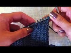 Вяжем укороченные ряды (how to knit shortened rows) - YouTube