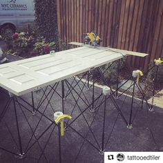 #Trimming a #door down on a #CentipedeSupport in this repost via @tattooedtiler:  First outing of the @centipedetool & @dewalttoolsuk plunge saw, game changers! #centipede #table #dewalt #plungesaw #combo #toolporn #new #tools ・・・ with @repostapp #CentipedeTool #portable #workbench #platform #sawhorse #doorstand #doors #tracksaw #dewalttough #saw #cutting #handyman #joinery #carpentry #contractor #protools #CentipedeFTW