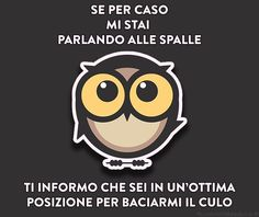 io ti maledico parlando alle spalle Italian Memes, Italian Quotes, Serious Quotes, Feelings Words, I Hate My Life, Have A Laugh, Good Mood, Funny Pictures, Funny Quotes