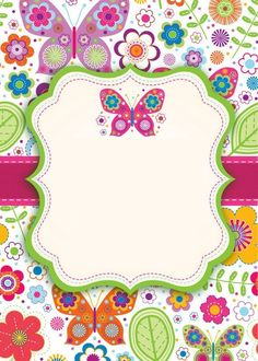 Welcome to Vedanshi's Birthday Party Doodle Frames, Butterfly Party, Butterfly Birthday, Borders For Paper, Borders And Frames, Diy And Crafts, Paper Crafts, School Frame, Binder Covers