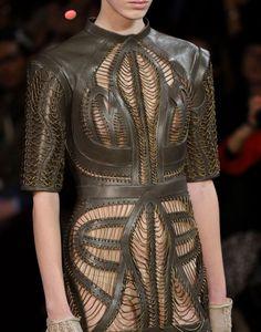 Leather overwear for Meera Reed, Iris Van Herpen