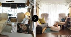 Before & After: An RV to Call Home | Design*Sponge- they sold all their belongings, made over an RV, and took their cat cross country to travel!!! this is my dream one day .......